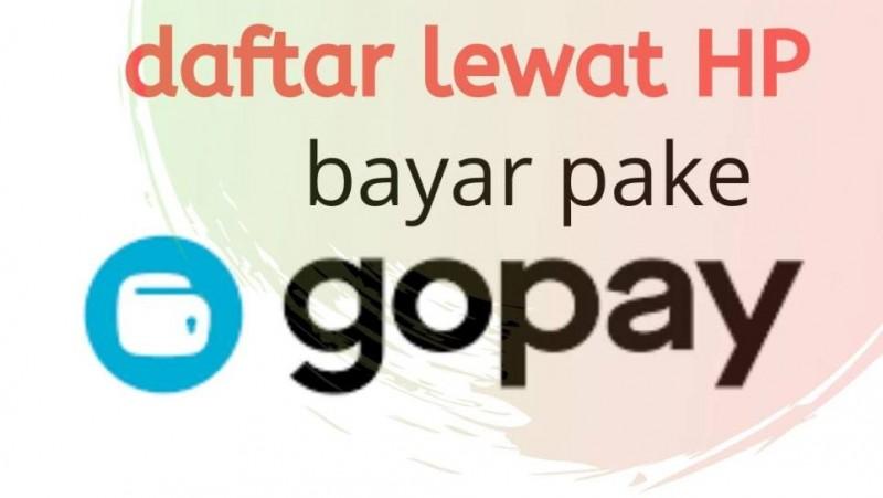 Flyer informasi pembayaran melalui finacial technlogy pendaftaran MI Miftakhul Akhlaqiyah.