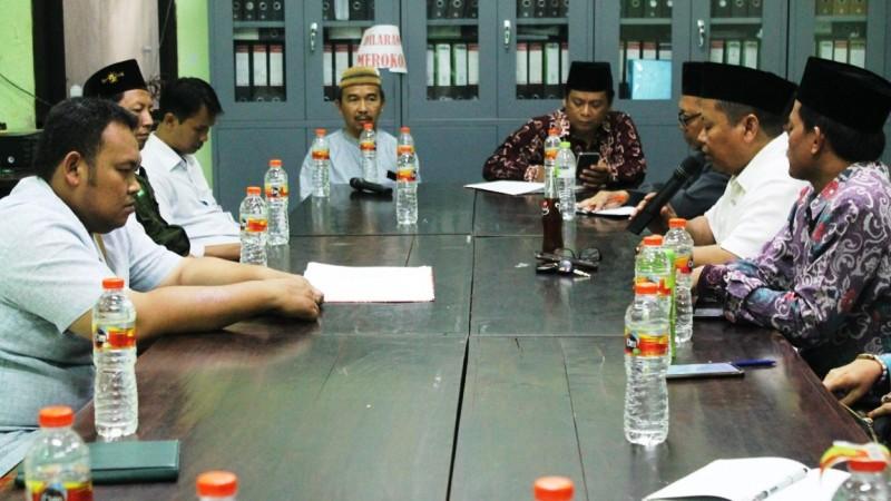 Rapat koordinasi menyiapkan Gerakan Koin Muktamar NU di Sidoarjo. (Foto: NU Online/Yuli Riyanto)