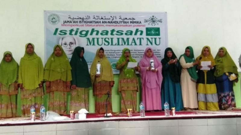 Pembukaan rutinan Jamaah Istighotsah Muslimat NU di gedung SP2, Mimika, Papua. (Foto: NU Online/panitia)