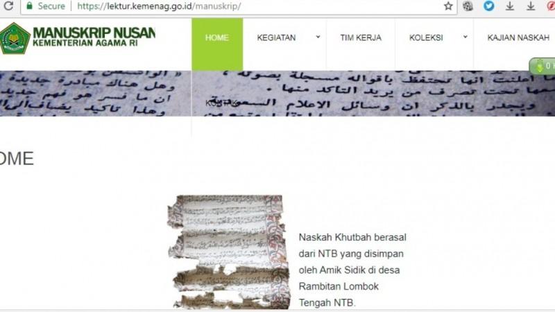 Naskah Kuno Bisa Diakses di Website Puslitbang Lektur Kemenag
