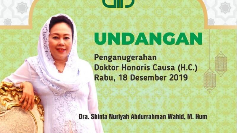 Penganugerahan Doktor Kehormatan Ibu Sinta Bentuk Penghargaan pada Kemanusiaan