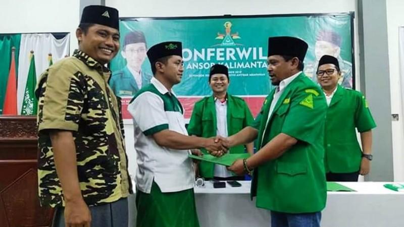 Peserta Konferwil mempercayakan Rajuini menjadi Ketua PW GP AnsorKalbar masa khidmah 2019 hingga 2023 dan Tohidin sebagai Kasatkorwil melalui musyawarah mufakat. (Foto: NU Online/Abi Yaqin).