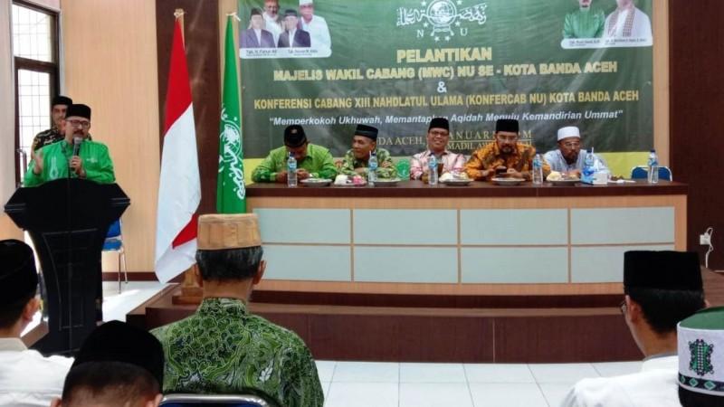 Waled Rusli Kembali Pimpin NU Banda Aceh