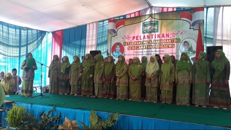 15 Pengurus Ranting dan 54 Anak Ranting Muslimat NU Pringsewu Dilantik