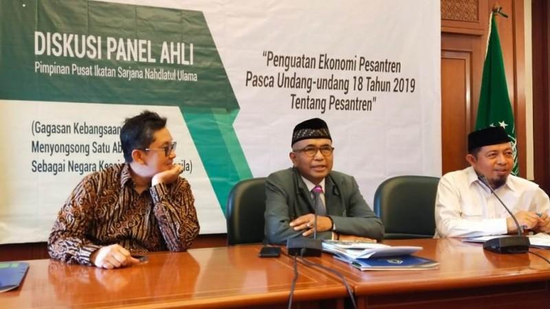 PP ISNU Gelar Diskusi Panel Ahli tentang Penguatan Ekonomi Pesantren