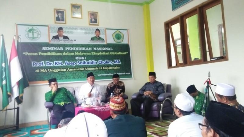 Seminar Pendidikan Nasional PC Pergunu Majalengka, Jawa Barat, Sabtu (1/2). (Foto: Istimewa)