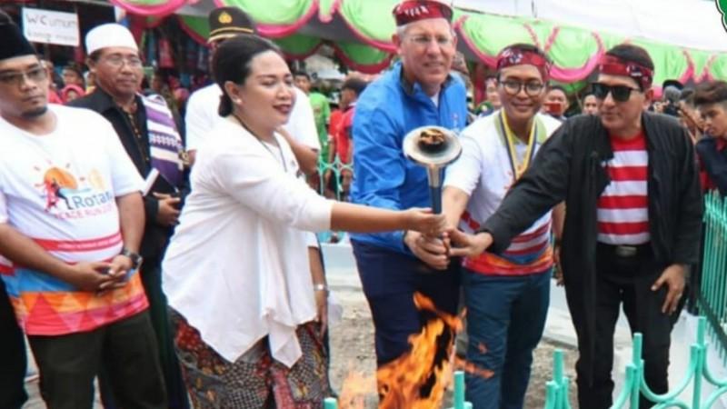 GP Ansor Pamekasan Apresiasi Penyulutan Api Perdamaian Dunia