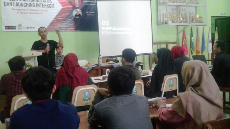 Forum Wartawan Sidoarjo Bekali Mahasiswa Unusida Kemampuan Jurnalistik