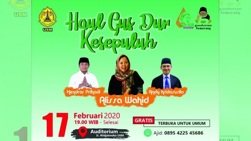 Alissa Wahid Hadiri Haul Gus Dur Bersama Komunitas Lintas Agama Semarang