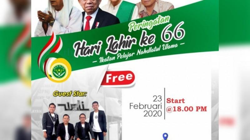 Tasyakkur Harlah Ke-66, IPNU Gelar Istighotsah dan Shalawat bersama Wali Band