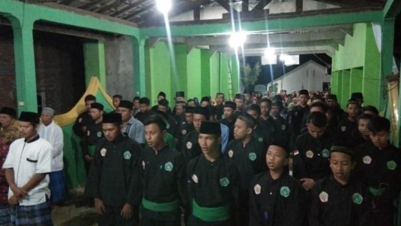 Pendekar Pagar Nusa pada pengajian Harlah NU di Tegalrejo, Yogyakarta, Sabtu (15/2). (Foto: Wahyu Agung Widodo)