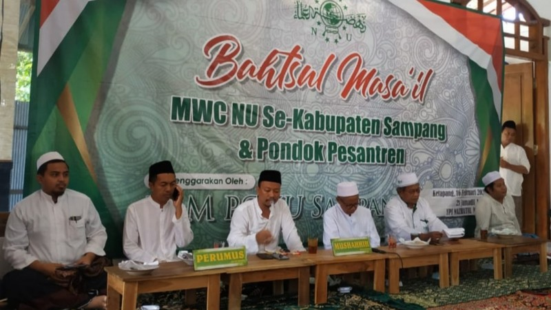 Suasana Bahtsul Masail MWCNU se- Kabupaten Sampang, Ahad (16/2). (Foto: NU Online/Sulaiman)