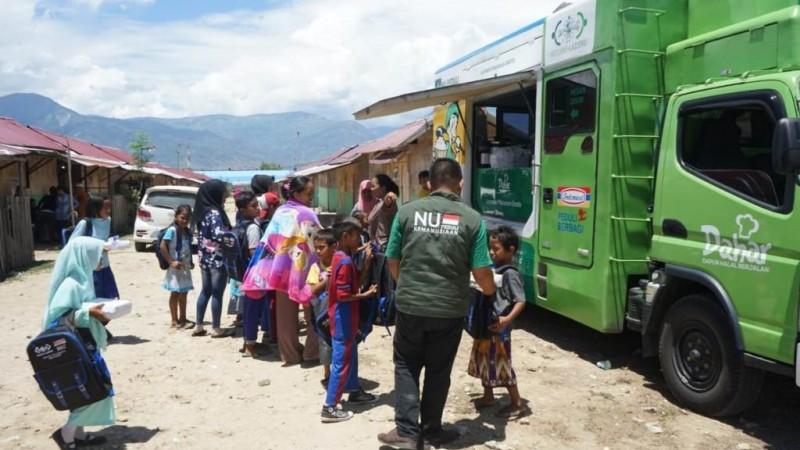 Lewat Mobil Dahar, LAZISNU Bantu Ratusan Korban Gempa Sulteng 2018