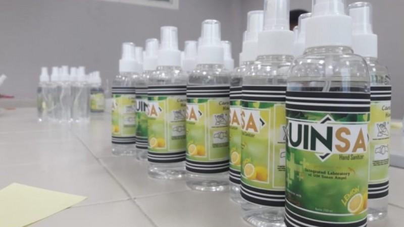 Mahasiswa UINSA Produksi 1350 Gel Pembersih Tangan