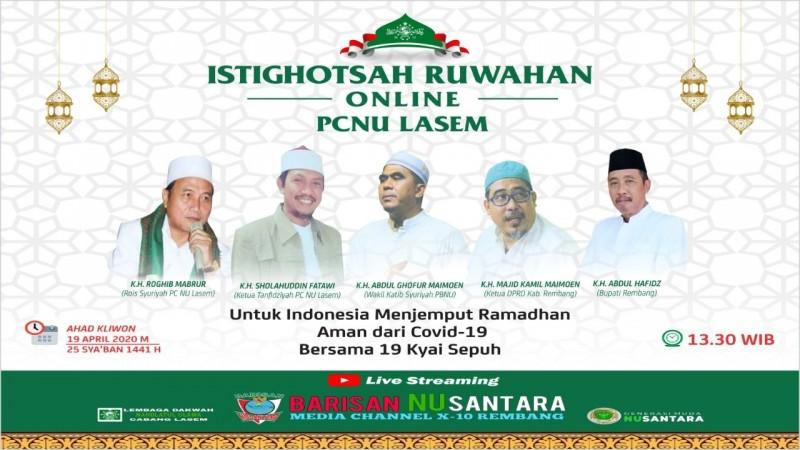 Sambut Ramadhan, PCNU Lasem Gelar Istighotsah Ruwahan Online Bersama 19 Kiai