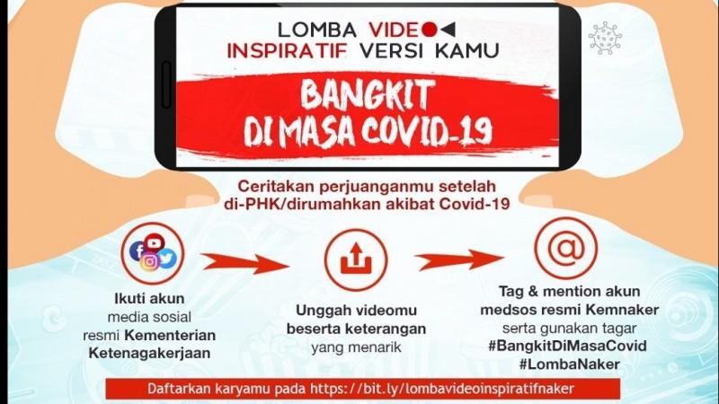KemnakerGelar Sayembara Lomba Video Insipratif'Bangkit di Masa Covid-19'