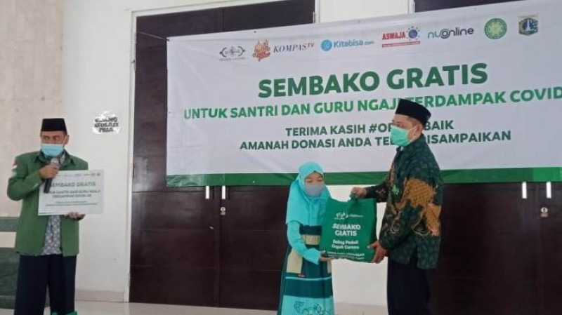 PBNU Salurkan Donasi 'Sahur Time' untuk Santri dan Guru Ngaji Terdampak Covid-19