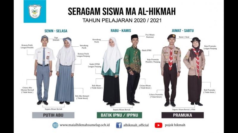 Madrasah Al-Hikmah Tasikmalaya Jadikan Batik IPNU dan IPPNU sebagai Seragam Resmi