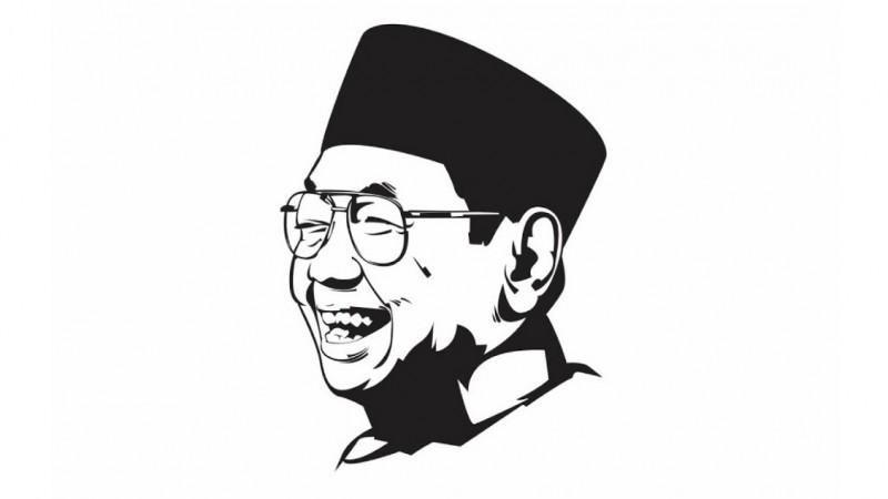 KH Abdurrahman Wahid atau Gus Dur. (Ilustrasi: NU Online)