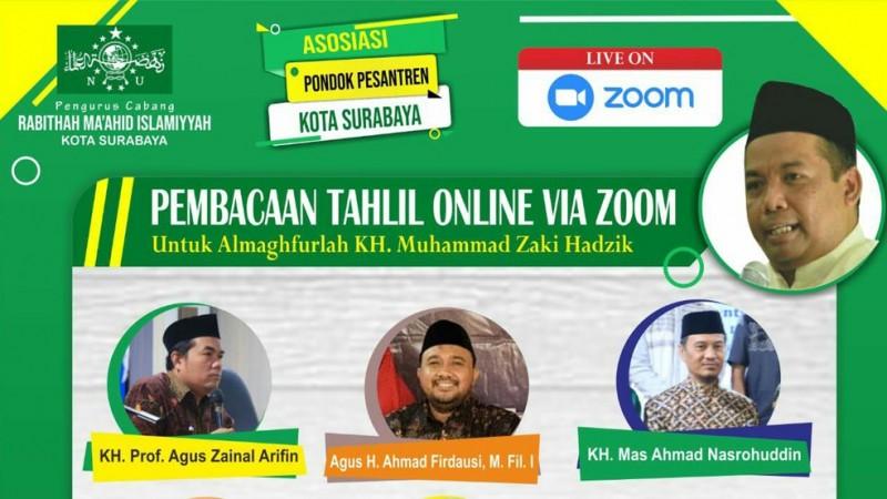 RMINU Surabaya Gelar Tahlil Daring untuk Cucu Mbah Hasyim Asy'ari