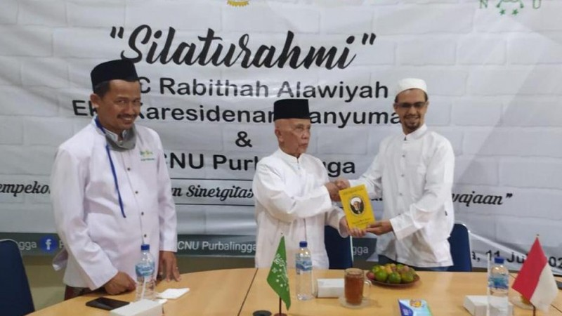 Rabithah Alawiyah Banyumas silaturahim dengan PCNU Purbalingga (Foto: Dokumen Rabithah Alawiyah)
