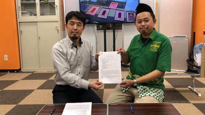 Ketua CICC Ustadz Sugimoto dan Ketua PCINU Jepang Miftakhul Huda. (Foto: Dok. PCINU Jepang)