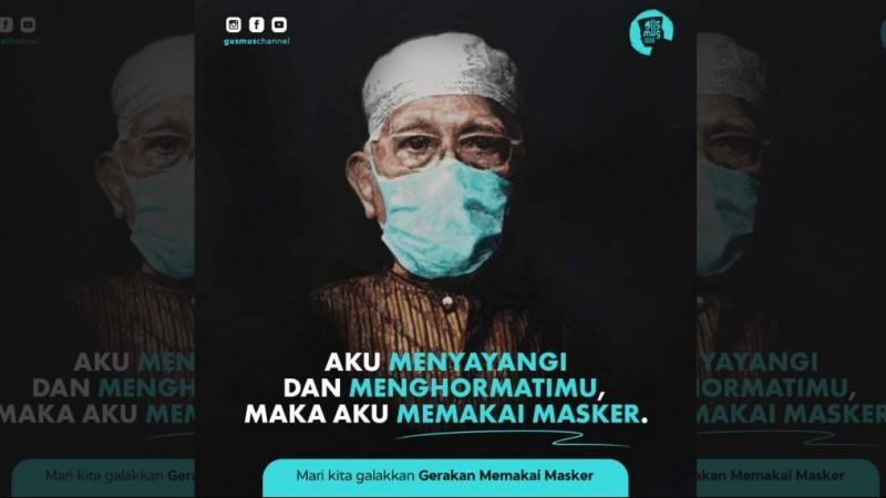 Hukum Wajib Memakai Masker dan Seruan Gerakan Moral Gus Mus
