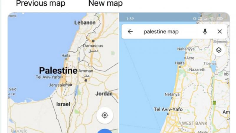 Palestina Dihapus dari Google Maps, Warganet Arab Geram