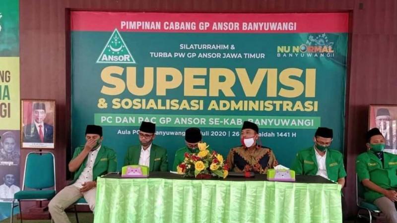 Tingkatkan Konsolidasi dan Tertib Administrasi, Ansor Jatim  Gelar Supervisi