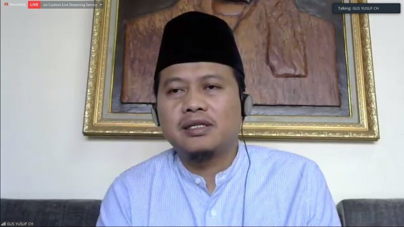 Gus Yusuf Chudlori saat berbicara  dalam sinau online UMKM Gayeng. (Foto: Istimewa)