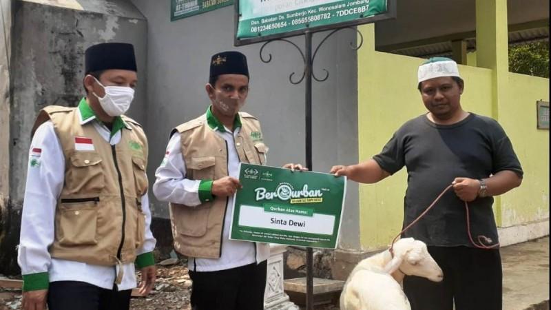Pesantren Kawasan Puncak di Jombang Turut Terima Kurban LAZISNU Jatim