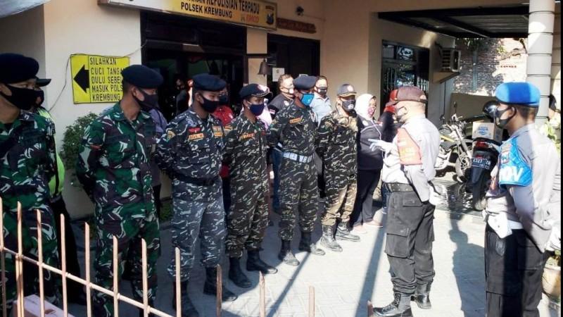 Polisi di Sidoarjo Libatkan Banser Gelar Operasi Protokol Kesehatan