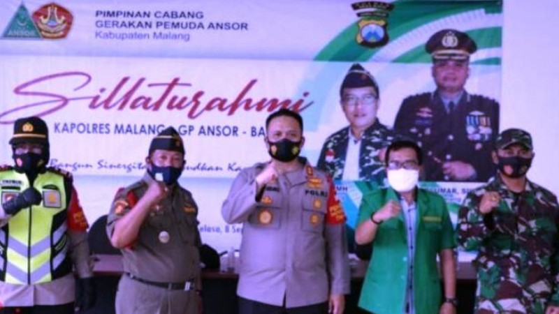Kapolres Malang Apresiasi Kiprah Ansor dan Banser Jaga Kamtibmas