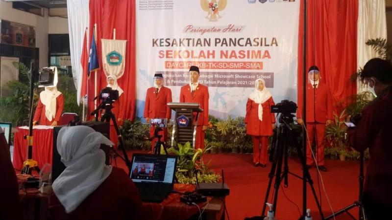 Kesaktian Pancasila Momentum Perkuat Karakter Pendidikan di Nasima Semarang