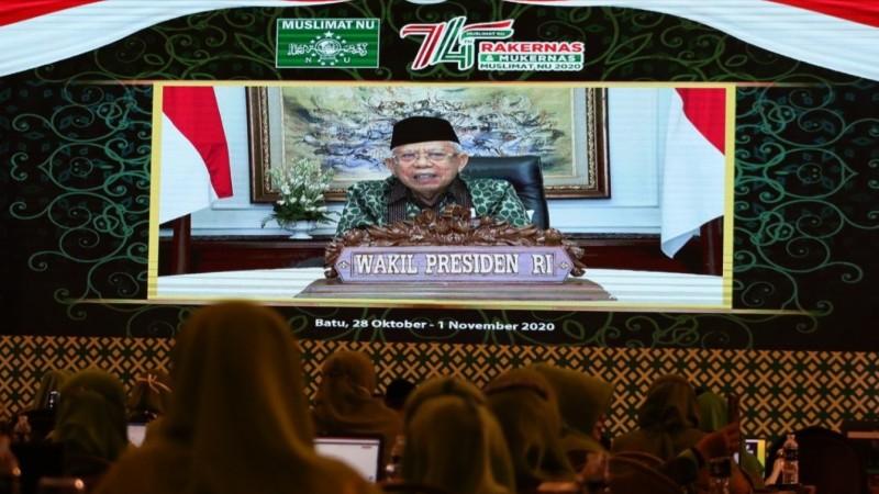 Wapres Kiai Ma'ruf Amin: Pemerintah Berutang Budi kepada Muslimat NU