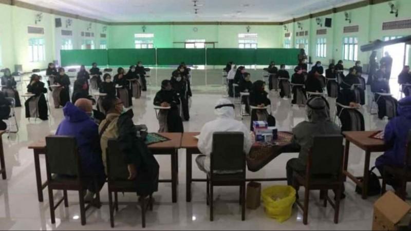 Sambut Pembelajaran Tatap Muka, Pesantren Nurul Qarnain Jember Perketat Prokes