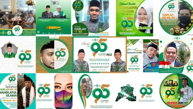 Warganet Ramai-ramai Pasang Profil Logo Harlah Ke-95 NU