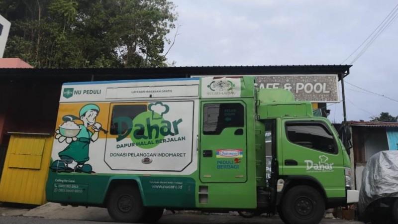 Mobil 'Dahar' NU Peduli Distribusikan Makanan untuk Pengungsi Gempa Sulbar