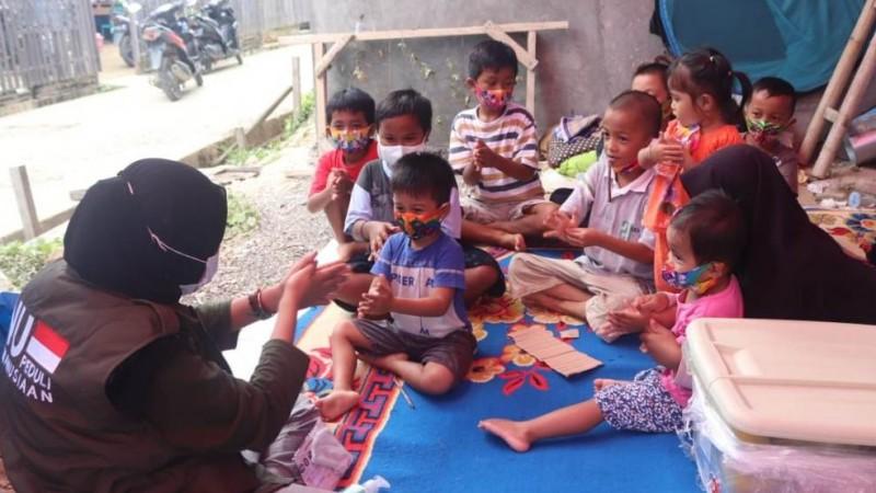 NU Peduli Edukasi Cegah Covid-19 kepada Pengungsi Gempa Sulbar
