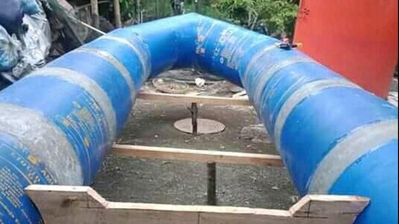 Penuhi Kebutuhan, Banser Cilacap Sulap Drum Bekas Jadi Perahu Patut Ditiru