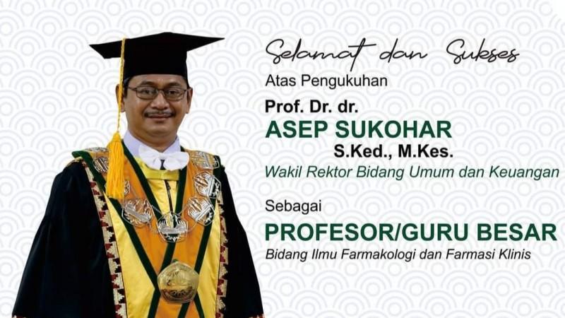 Ketua PDNU Lampung Asep Sukohar Jadi Profesor Farmakologi Unila