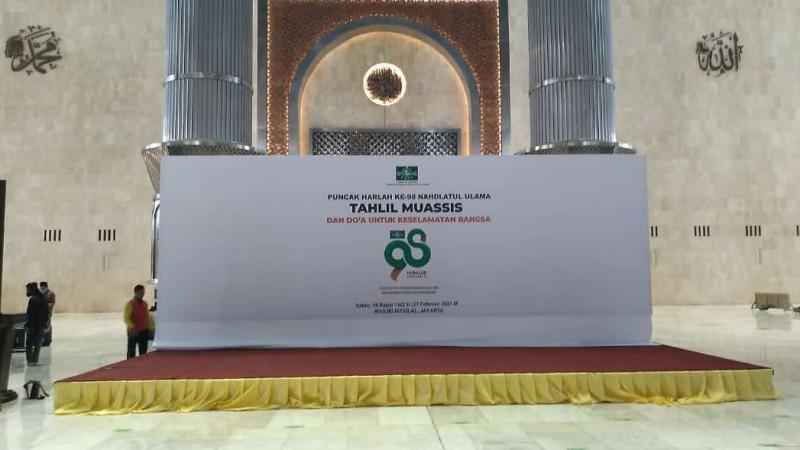 Harlah Ke-98 NU di Masjid Istiqlal Terapkan Protokol Kesehatan Ketat