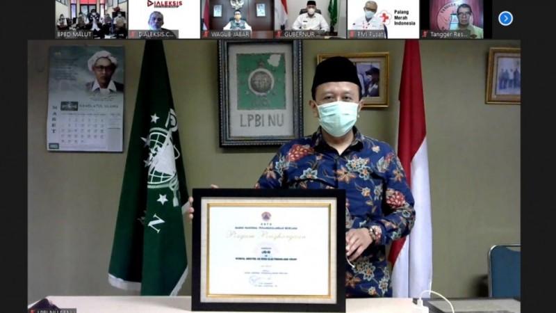 LPBINU Kembali Raih Penghargaan dari BNPB atas Konsistensi dan Inovasi Penanganan Bencana
