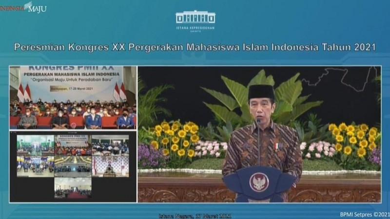 Buka Kongres XX, Jokowi: PMII Konsisten Suarakan Keadilan