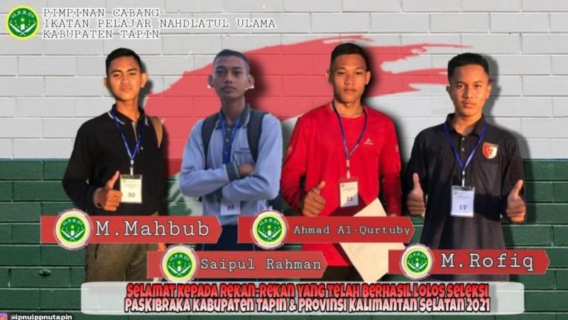 Empat Kader IPNU Tapin Kalsel Terpilih sebagai Anggota Paskibra