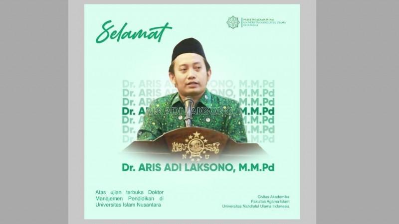 Ketua PP Pergunu Aris Adi Leksono Raih Doktor di Uninus Bandung