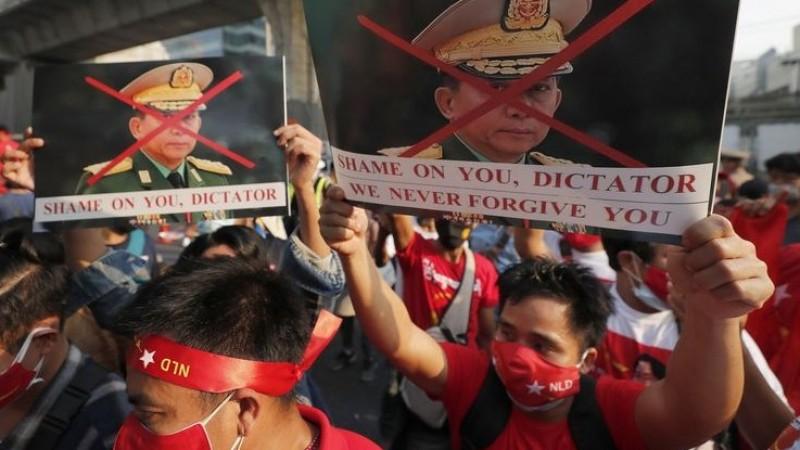 Protes Kudeta Militer, Warga Myanmar yang Tewas Capai 709 Orang