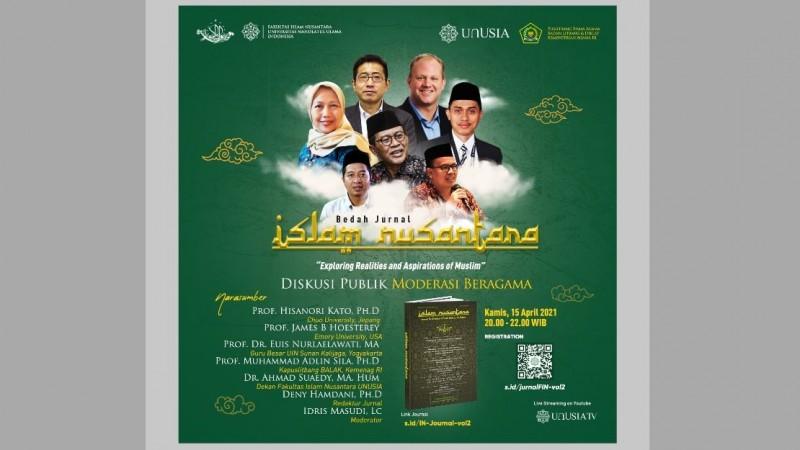 Bedah Jurnal Islam Nusantara FIN Unusia Dihadiri Peneliti dari Jepang dan AS