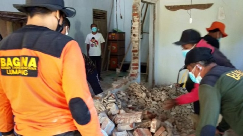 NU Peduli Gempa Lumajang  dan FPRB  Jatim Terus Bergerak Bantu Korban Gempa
