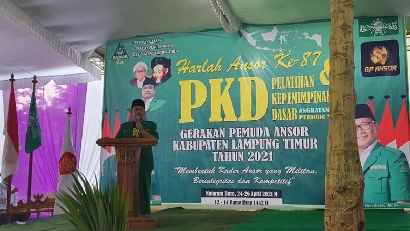 PKD Angkatan XIII GP Ansor Lampung Timur Warnai Harlah Ke-87